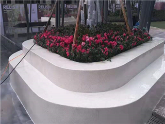 【工程案例】景观园林花台水磨石施工